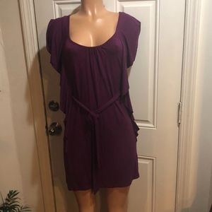 flirty TART belted dress purple S